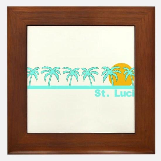 St. Lucia Framed Tile