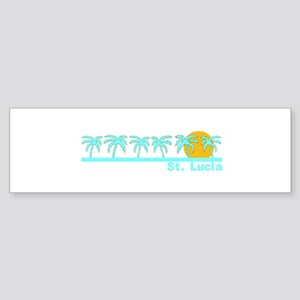 St. Lucia Bumper Sticker