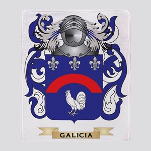 Galicia Coat of Arms (Family Crest) Throw Blanket