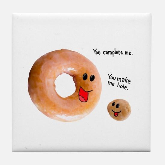 donut love Tile Coaster