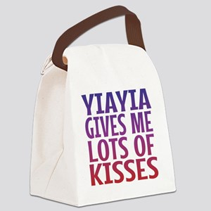 Yiayia Gives Me Lots Of Kisses Canvas Lunch Bag