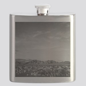 Ansel Adams Distant view of mountains Flask