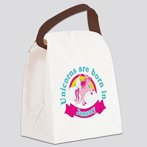 Unicorns Are Born In January Canvas Lunch Bag