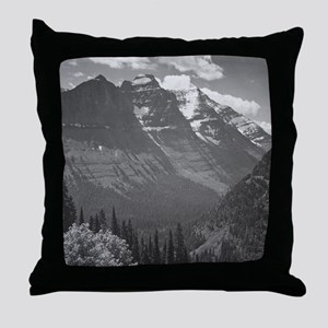Ansel Adams Glacier National Park Throw Pillow