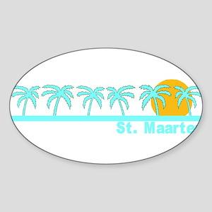 St. Maarten Oval Sticker