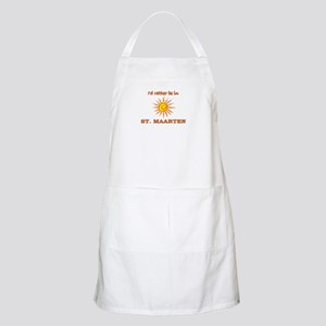 I'd Rather Be In St. Maarten BBQ Apron