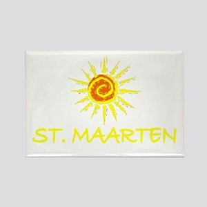 St. Maarten Rectangle Magnet