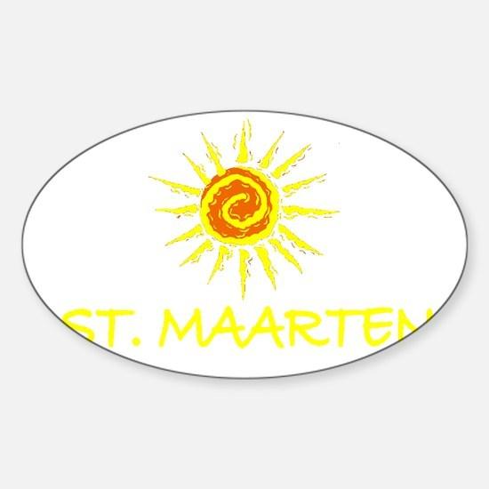 St. Maarten Oval Decal