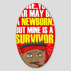 Survivor Car Sticker (Oval)