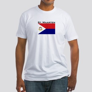 St. Maarten Flag Fitted T-Shirt