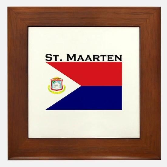 St. Maarten Flag Framed Tile