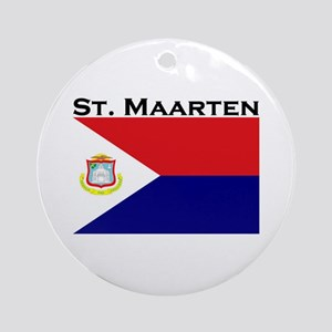St. Maarten Flag Ornament (Round)