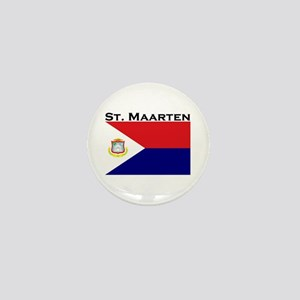 St. Maarten Flag Mini Button