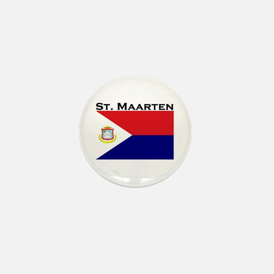 St. Maarten Flag Mini Button