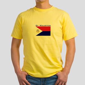 St. Maarten Flag Yellow T-Shirt