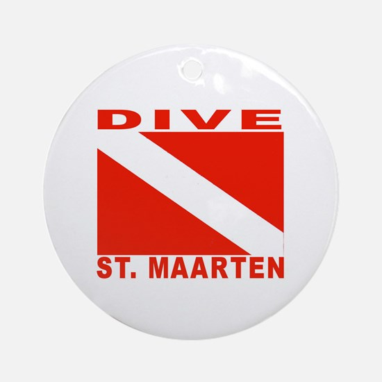 Dive St. Maarten Ornament (Round)