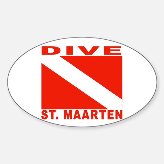 Dive St. Maarten Oval Decal
