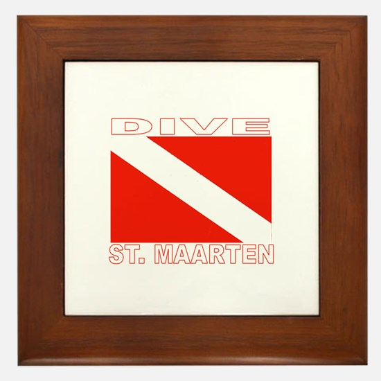Dive St. Maarten Framed Tile