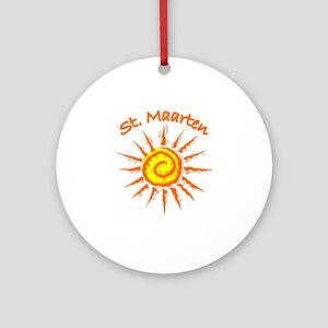 St. Maarten Ornament (Round)