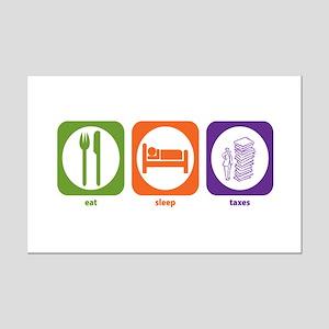 Eat Sleep Taxes Mini Poster Print