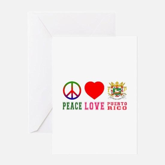 Peace Love Puerto Rico Greeting Card