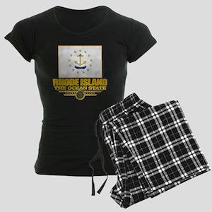 Rhode Island Flag Women's Dark Pajamas
