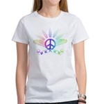 Peace Sign with Wings Rainbow Women's T-Shirt