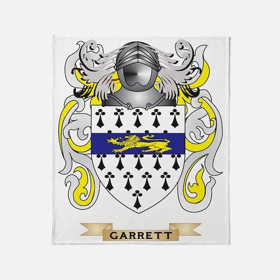 Garrett Coat of Arms (Family Crest) Throw Blanket