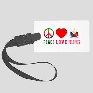 Peace Love Philipines Large Luggage Tag