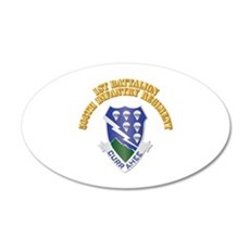 DUI - 1st Bn - 506th Infantry Regt with Text Wall Decal