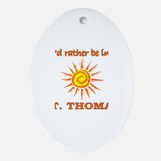 I'd Rather Be In St. Thomas, Oval Ornament