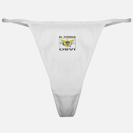 St. Thomas, USVI Flag Classic Thong