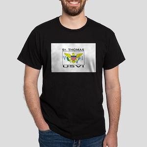 St. Thomas, USVI Flag Dark T-Shirt
