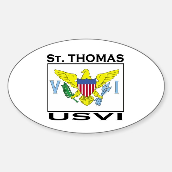 St. Thomas, USVI Flag Oval Decal
