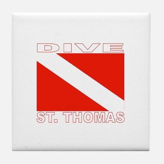 Dive St. Thomas, USVI Tile Coaster