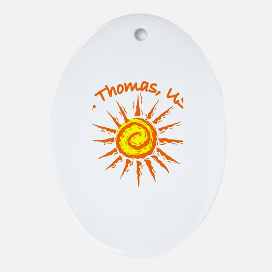 St. Thomas, USVI Oval Ornament