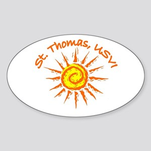 St. Thomas, USVI Oval Sticker