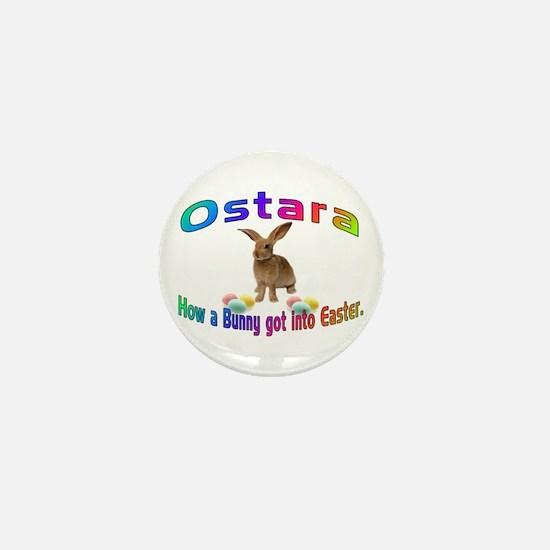 Ostara how a Bunny got into Easter Mini Button
