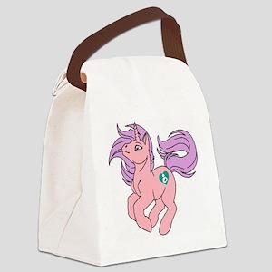 Little Breastfeeding Pony Canvas Lunch Bag