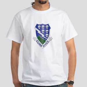 DUI - 1st Bn - 506th Infantry Regt White T-Shirt