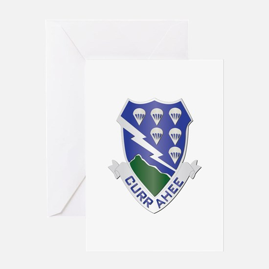 DUI - 1st Bn - 506th Infantry Regt Greeting Card