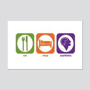 Eat Sleep Psychiatry Mini Poster Print