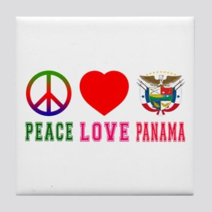 Peace Love Panama Tile Coaster