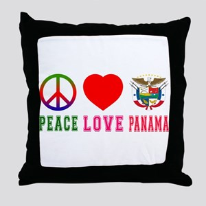 Peace Love Panama Throw Pillow