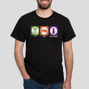 Eat Sleep Public Speaking Dark T-Shirt