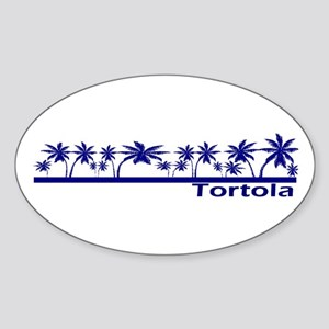 Tortola Oval Sticker