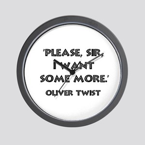 Oliver Twist Quote Wall Clock