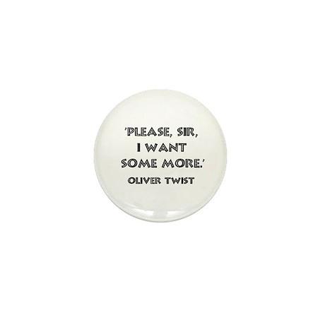 Oliver Twist Quote Mini Button (10 pack)