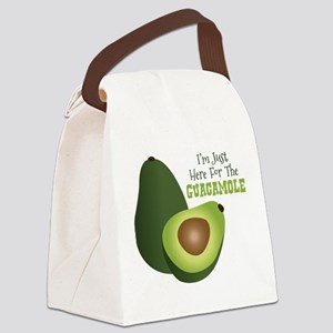 Im Just Here For The GUACAMOLE Canvas Lunch Bag