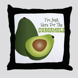 Im Just Here For The GUACAMOLE Throw Pillow